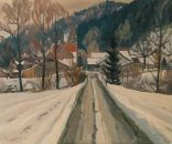 Winter in Tannegg  Ölbild von Richard Wannenmacher  1985  60x50cm  Nr.570
